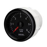 52mm 0-6000 RPM (na desce rozdzielczej) Elektryczny wskaźnik prędkości obrotowej silnika wysokoprężnego