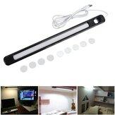 34cm DC5V 6W USB 24LED Rigid Strip Bar Light Magnet Stick-on Desk Table Reading Cabinet Lamp