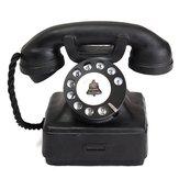 Téléphone rotatoire antique de modèle de téléphone rotatoire antique de résine d'imitation pour la décoration à la maison de bureau