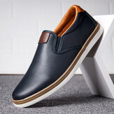 Men Retro Soft Walking Sole Casual Business Loafers