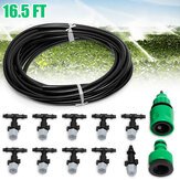 5m 16ft tuinbouwinstallatie Micro Drip Irrigation System Patio Atomization Micro Sprinkler Cooling Kit