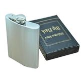 8oz (225ml) الفولاذ المقاوم للصدأ قارورة الورك زجاجة وعاء الكحول المحمولة النحاس غطاء هدية للرجل
