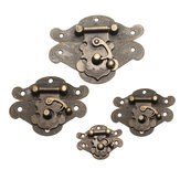 Antique Retro Decorative Latch Vintage Wooden Jewelry Box Drawer Hasp Pad Coffre Lock 4 Tailles