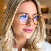 Nowe okulary Tr90 Ramka Nieregularne okrągłe okulary optyczne