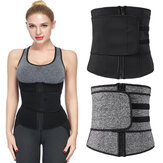 Women Neoprene Sauna Waist Trainer Sweat Belt Compression Trimmer Workout Fitness with Burning Fat Sports Protective Safety Gear