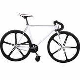 KOLUSSI TA119 700cc x 23cc Double V Brake Fixed Gear Bikes High Carbon Steel Frame Removable DIY Bike 52cm