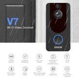 Eken V7 Bezprzewodowe WiFi Inteligentny wizualny 1080P Dzwonek Noktowizor Wideodomofon Indukcja dzwonka Cat Eye