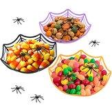 Cadılar bayramı Şeker Sepeti Kaseler Örümcek Ağı Çocuklar için Plastik Kaseler Trick or Treat Şeker Cadılar Bayramı Sepetleri Dekorasyon