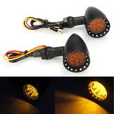 12 V Evrensel Motosiklet Motosiklet Sarı LED Bullet Dönüş Sinyali Gösterge Işığı