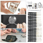 15Pcs/24Pcs Lock Unlocking Picking Tool Set With 3 Transparent Practice Training Lock