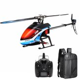 Everyine E160 V2 6CH Dual Brushless 3D6G System Flybarless RC Helicopter RTF مع حقيبة ظهر