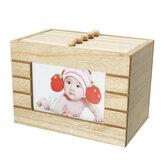 Retro houten fotoalbum doos houten kist huwelijksgeschenk diy 6 inch 100stk opslag