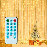 3X3M300 GYTF Curtain Lights with Sound Activated USB Powered LED Fairy Christmas Lights with Remote Sync-to-Music Setting 8 Mode Hanging Light for Bedroom Wedding Decorations