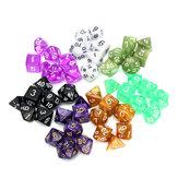 126 Pcs RPG MTG Polyhedral Dice 18 Conjuntos com Bolsas 18 Cores