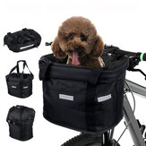 34x24x8CM Foldable Bicycle Front Basket With Zipper Bike Handlebar Basket Pet Cat Carrier MTB Frame Bag