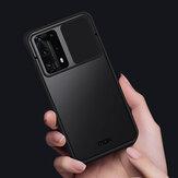 MOFI per Huawei P40 Pro + / Huawei P40 Pro Plus Custodia Anti-Hacker Peeping Slide lente Cover Antiurto Anti-Scratch Translucent Matte Silicone Custodia protettiva