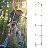 5 Rungs Wooden Climbing Rope Ladder Swing for Kids