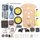 5 sztuk 2WD Ultradźwiękowy inteligentny robot Podwozie samochodu Śledzenie samochodu DIY Zestaw do