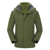 Uomo campeggio Giacca da trekking impermeabile con tripla giacca impermeabile Soft