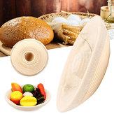 RęcznierobioneokrągłeowalneBannetonBortform Rotang kosze do przechowywania ciasta chlebowego Proofing Liner