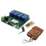 Geekcreit® DIY 32V 4 Channel Jog/Inching And Self-locking + 433MHz Receiver Module + APP Remote Control For WIFI Wireless Smart Home Switch