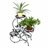 3-Tier Metal Flower Stand Shelf Holder Decorative Plant Stand Rack Pot Tray Design Garden Home Indoor/Outdoor
