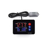 XH-M453 Display digital duplo, temperatura, umidade, controlador, termostato, umidade, inteligente, termostato, incubadora, controle, AC 220V / DC12-24V