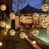 5M / 6,5M / 7M LED Solar Garden String Light Marokkanische Hängelaterne Feenlampe im Freien