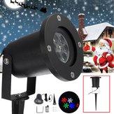 12W ضد للماء Colorful Snowflake LED Laser Stage ضوء مصباح ضوئي لعيد الميلاد في الهواء الطلق
