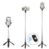 Bakeey bluetooth Wireless Mini Tripod Selfie Stick Monopod with Remote Control for iPhone 8