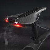 WHEEL UP Sella bici Soft Comodo cuscino coprisedile impermeabile per bicicletta con fanale posteriore a 6 modalità per MTB Road Bike Road