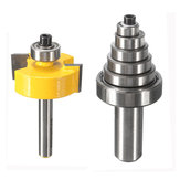 1/4 Inch Shank Rabbet Router Bit with 7 Bearings Set