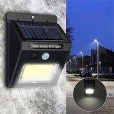 Energia Solar Super Brilhante COB 24 LED PIR Movimento Sensor Luz Da Parede Ao Ar Livre Lâmpada À Prova D 'Água Sem Fio