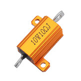 RX24 10W 10R 10RJ Metal Aluminum Case High Power Resistor Golden Metal Shell Case Heatsink Resistance Resistor