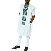 INCERUN Mens African Style Loose Short Sleeve Mid-long Shirt