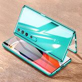 Bakeey لهاتف Xiaomi Mi10 Mi 10 Case 2 في 1 مع واقي عدسة مغناطيسي الوجه المزدوج من الزجاج المقسى المعدني غطاء حماية كامل غير أصلي