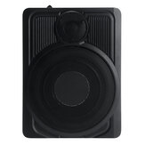 10inch 600W 12V Powered Car Under Seat Subwoofer 360° Surround Ultra-thin Body Power Amplifier Speaker Audio Super Bass