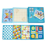 6 in 1 Multifunctional Game Chess Board Game Family Games Science and Education Kids Toy