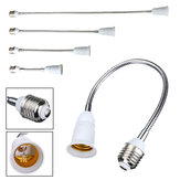 E27 LED Bulb Lamp Holder Flexible Extension Adapter Converter White