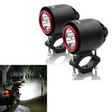 CNSUNNYLIGHT 3400LM 20W 6000K IP67 Motorcycle Turbo LED Headlights Flash Strobe Light