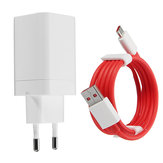5V 4A Original Fast Phone Charger EU-adapter Type-C kabel til ONEPLUS 3T / 5