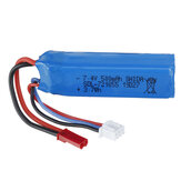Wltoys 7.4V 500mAh 20C 2S Li-ion Battery JST Plug A202-61 for A202 A212 A222 A232 A242 A252 1/24 RC Car Vehicles