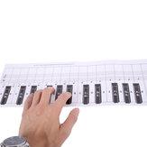 Tabela de comparação de papéis para prática de teclado de piano com 88 teclas Debbie Padrão 1: 1 Tabela de comparação de prática de dedilhado para piano portátil