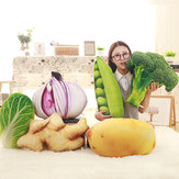KC Creative Simulation Vegetable Pillow Broccoli Potatoes Chinese Cabbage Cushions Plush Toy
