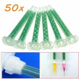 50pcs F6-16 Vert AB Colle Tube De Mélange Bouche Statique Section 16 Buses