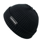 ZimawstyluvintageMężczyźniKobiety Wiatroszczelna ciepła dzianinowa czapka zimowa