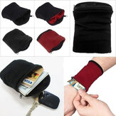Wrist Wallet Pouch Band Fleece Zipper Running Travel Gym Cycling Safe Sport Wrist Wallet