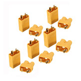 5 Pairs XT30 2mm Golden Male Female Non-slip Plug Interface Connector