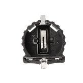 3 sztuk CR1220 Uchwyt baterii Patch Button Baterie Gniazda baterii Obudowa czarna z tworzywa sztucznego