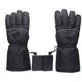 Touch Screen Electric Heated Gloves Warm Waterproof Ski Winter Warmer For Motorcycle Scooter Riding